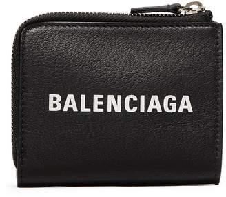 Balenciaga 'Everyday' logo embossed zip key case