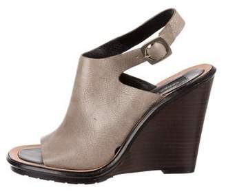 Derek Lam Leather Wedge Sandals