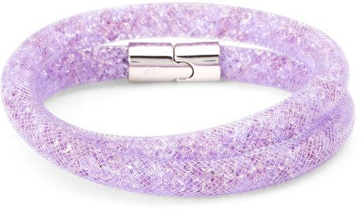 swarovski Purple Stardust Double Wrap Bracelet