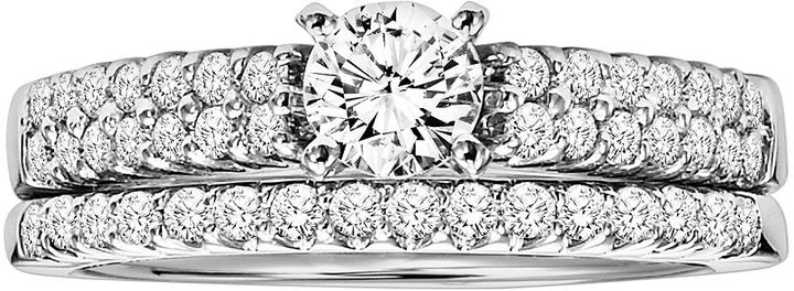 Cherish Always Round-Cut Diamond Engagement Ring Set in 14k White Gold (1 ct. T.W.)