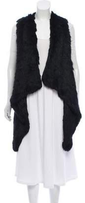 Jocelyn Fur High-Low Vest