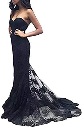 Half Flower Bridal Off-the-Shoulder Bridesmaid Gown Lace Backless Prom Party Dress Style 1 US
