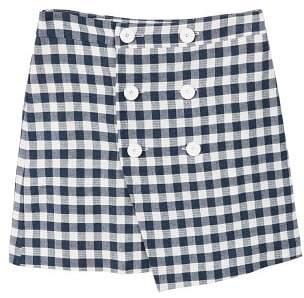 MANGO Gingham print skirt