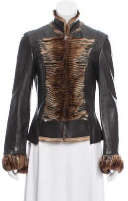 Jitrois Fur-Trimmed Leather Jacket