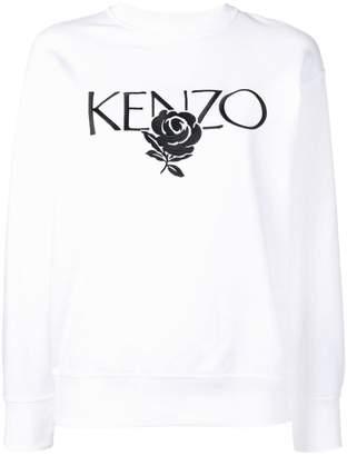 Kenzo Roses embroidered sweatshirt