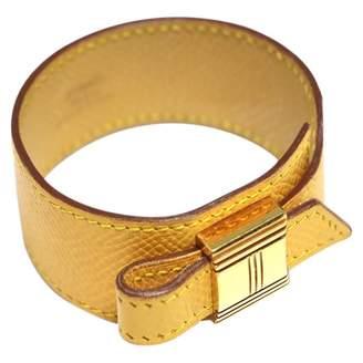 Hermes Vintage Artemis Yellow Leather Bracelets