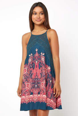 Free People Sleeveless Shea Print Mini Swing Dress