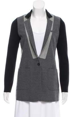 Yigal Azrouel Collarless Colorblock Blazer