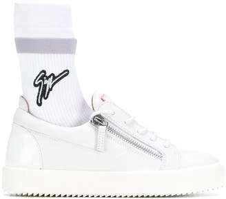 Giuseppe Zanotti Design logo patch sneakers