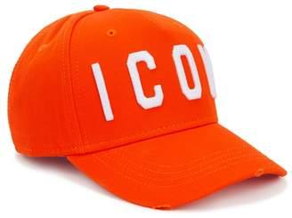 DSQUARED2 Icon Orange Embroidered Twill Cap