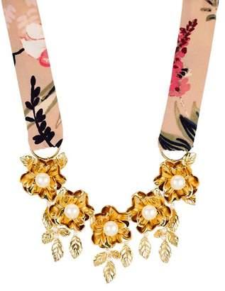 "Kate Spade Botanical Statement Necklace, 16"""