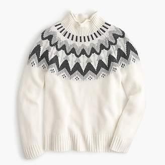 J.Crew Mockneck Fair Isle cashmere sweater