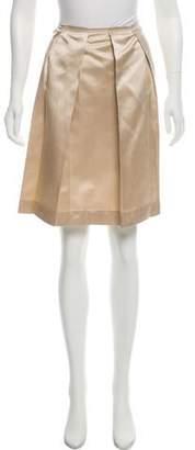 Prada Silk Mini Pleated Skirt