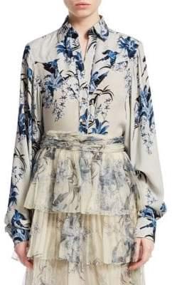 Azalea Johanna Ortiz Silk Floral Shirt