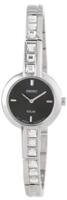 Seiko Women's SUP191 Dress Solar Square Crystals Japanese Quartz Watch $112.76 thestylecure.com