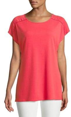 Halston H Side-Slit Dolman-Sleeve Top
