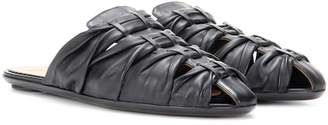The Row Capri leather slippers