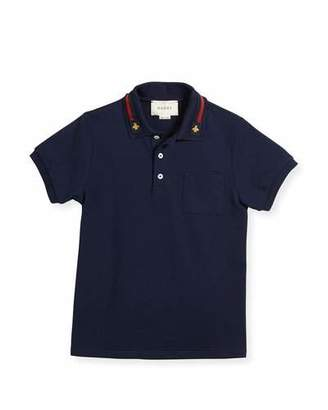 Gucci Short-Sleeve Stretch Jersey Polo, Size 4-12 $215 thestylecure.com