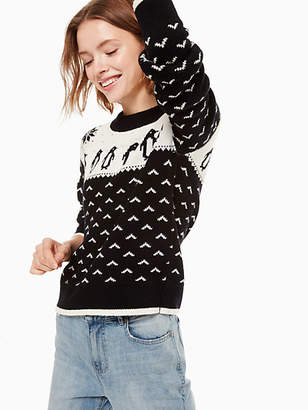 Kate Spade Penguin intarsia sweater
