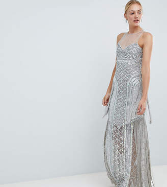 A Star Is Born Tall A Star is Born Tall Embellished Maxi Dress with Iridescent Sequins