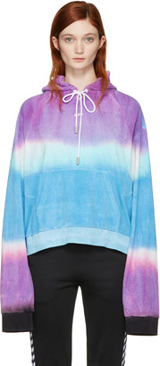Off-White Multicolor Tie-Dye 'Woman' Towel Hoodie $555 thestylecure.com