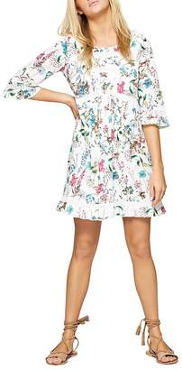 Sanctuary Ellie Lace-Trimmed Floral Dress
