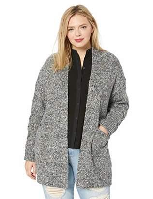 Lucky Brand Women's Plus Size Venice Marl Cardigan Sweater