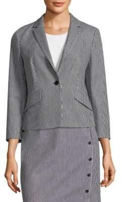 BOSS Striped Stretch Denim Jacket