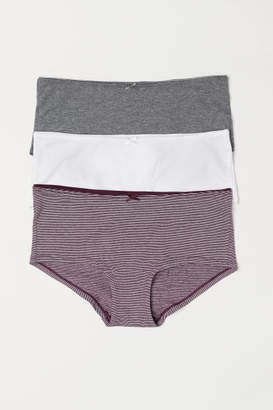 H&M 3-pack Cotton Shortie Briefs - Red