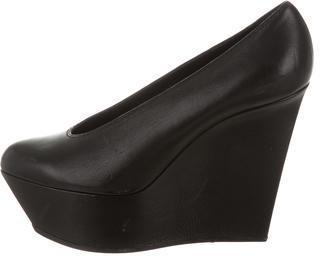 Casadei Leather Round-Toe Platforms $155 thestylecure.com