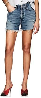 3x1 Women's W4 Carter Distressed Denim Cutoff Shorts
