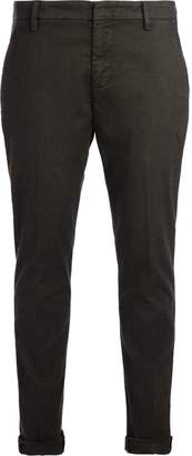 Dondup Gaubert Green Trousers With Black Micro Pattern