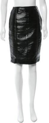 Jonathan Saunders Coated Knee-Length Skirt
