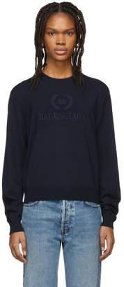 Balenciaga Navy Logo Sweater