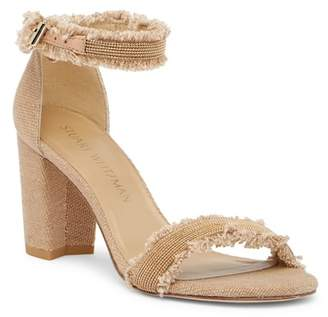 Stuart Weitzman Chaingang Frayed Ankle Strap Sandal - Wide Width Available