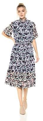 Ella Moon Women's Alondra Smock Neck Midi Dress
