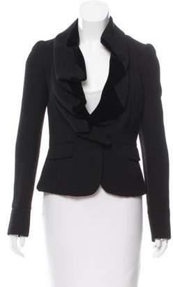 Givenchy Ruffle-Trimmed Long Sleeve Jacket