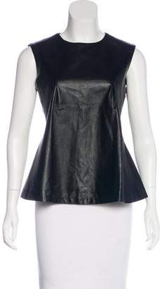 Jonathan Simkhai Leather-Accented Sleeveless Top