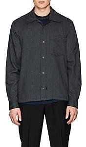 Acne Studios Men's Mélange Cotton Flannel Shirt - Gray