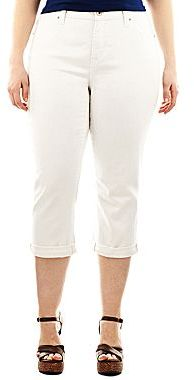JCPenney a.n.a® Thick-Stitch Cropped Jeans - Plus