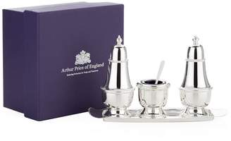 Arthur Price Of England 3 Piece Condiment Set with Tray