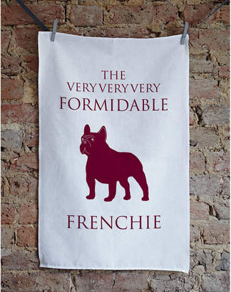 French Bull Bottle Green Homes Dog Tea Towel