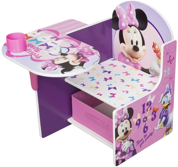 Disney Minnie Mouse Chair Desk with Storage
