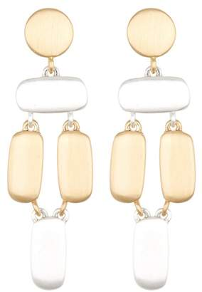 Lucky Brand Two-Tone Brushed Dangle Earrings