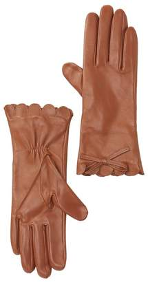 Kate Spade Scalloped Leather Gloves