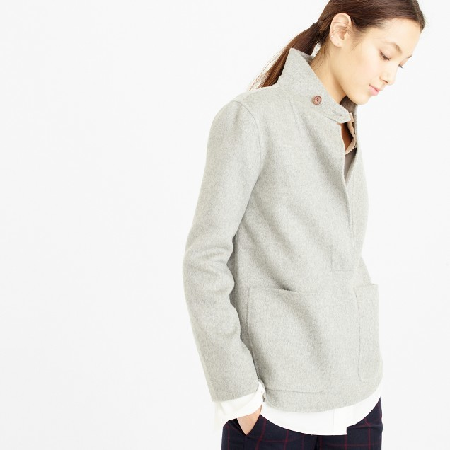 J.Crew Collection double-faced cashmere popover jacket