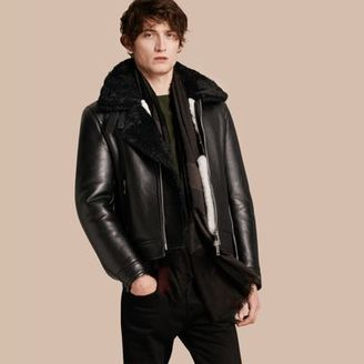 Burberry Lambskin and Shearling Aviator Jacket $4,795 thestylecure.com