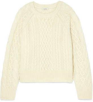 Bergeme Cable-knit Wool-blend Sweater - Cream