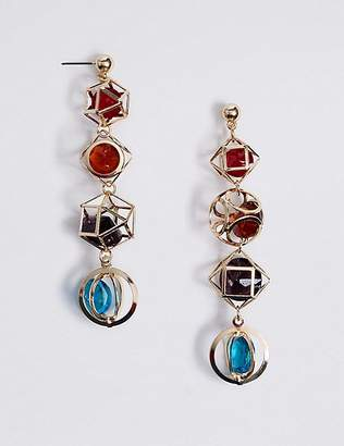 Marks and Spencer Trapped Gems Drop Earrings