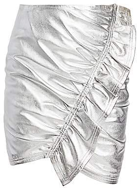 A.L.C. (エーエルシー) - A.L.C. Women's Jupiter Metallic Leather Mini Skirt - Size 0